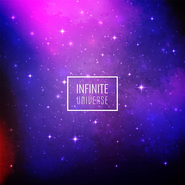 抽象的な銀河空間の輝く背景 無料ベクター