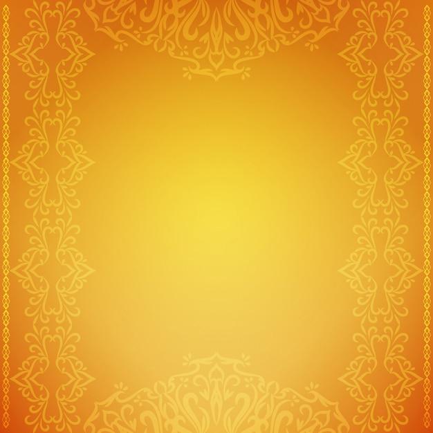 抽象的な装飾的な豪華な黄色の背景 無料ベクター