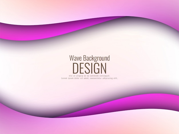 抽象的なピンクの波モダンな背景 無料ベクター