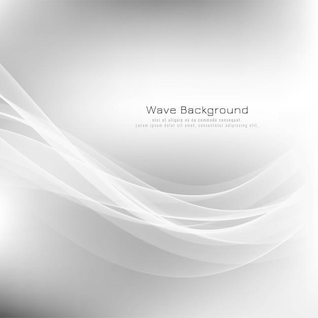抽象的な波灰色のモダンな背景 無料ベクター