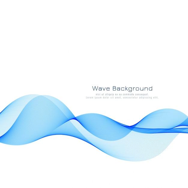 エレガントな青い波背景 無料ベクター