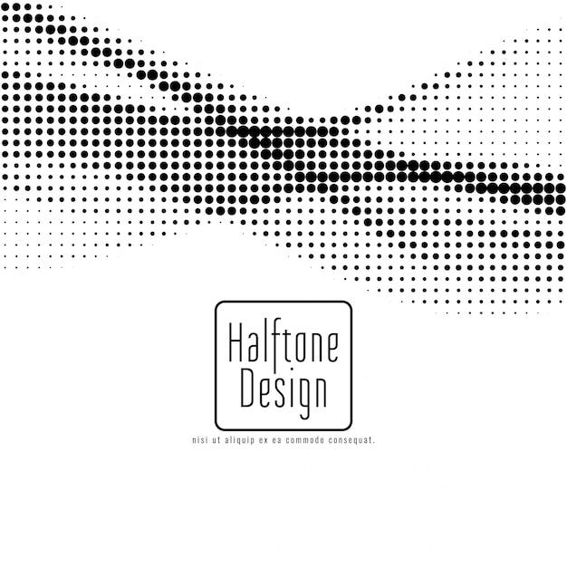 抽象的なハーフトーンデザインの背景 無料ベクター