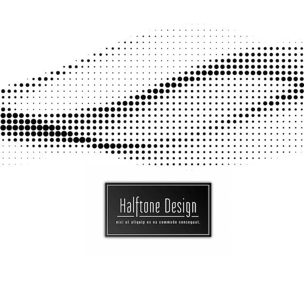 抽象的な現代的なハーフトーンの背景 無料ベクター