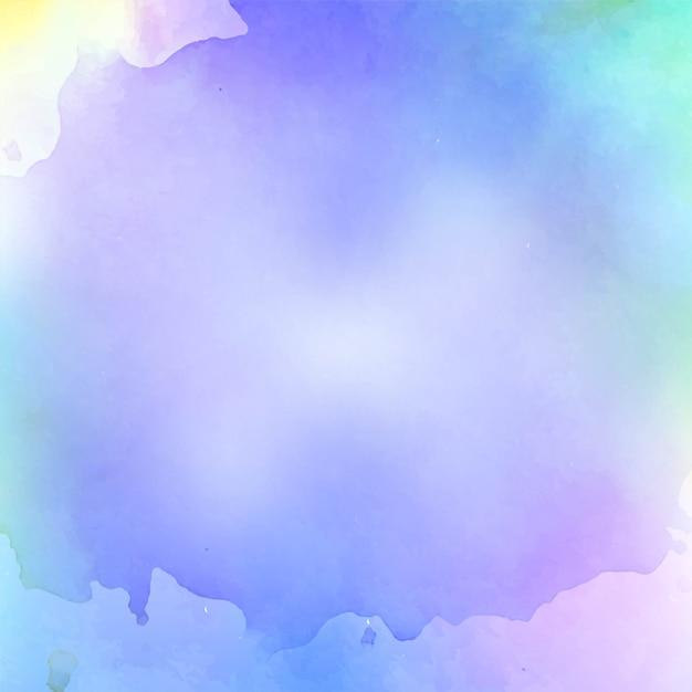 抽象的な水彩画のカラフルな背景 無料ベクター