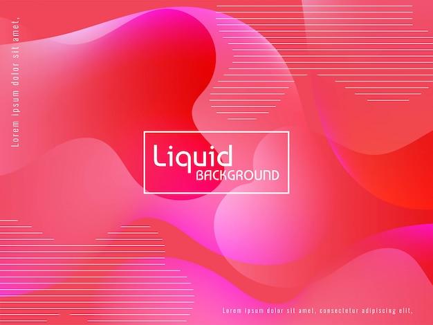 現代の液体の流れのカラフルな背景 無料ベクター