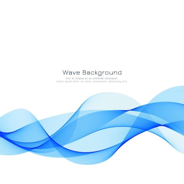 抽象的なスタイリッシュな青い波背景 無料ベクター