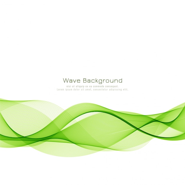 抽象的なエレガントな緑の波背景 無料ベクター