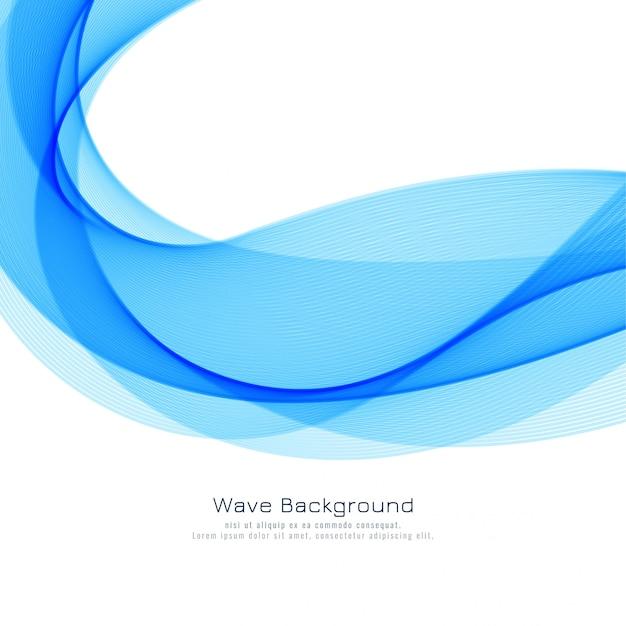 Элегантный синий фон волны Бесплатные векторы