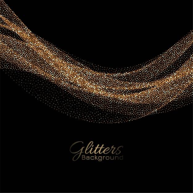 装飾的な背景を流れるモダンな黄金の輝き 無料ベクター