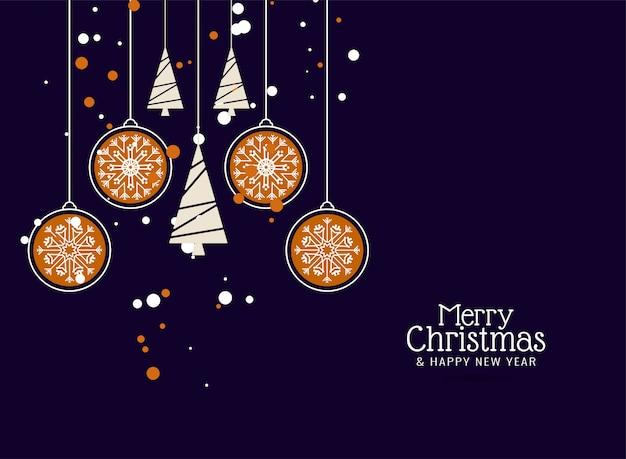 メリークリスマスの装飾的なカラフルな背景 無料ベクター