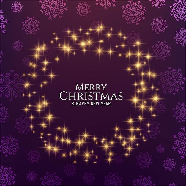 メリークリスマスの装飾的な輝く星 無料ベクター