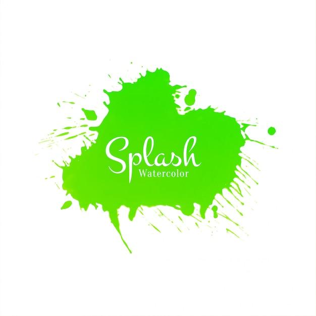 抽象的な緑水彩スプラッシュデザインベクトル 無料ベクター