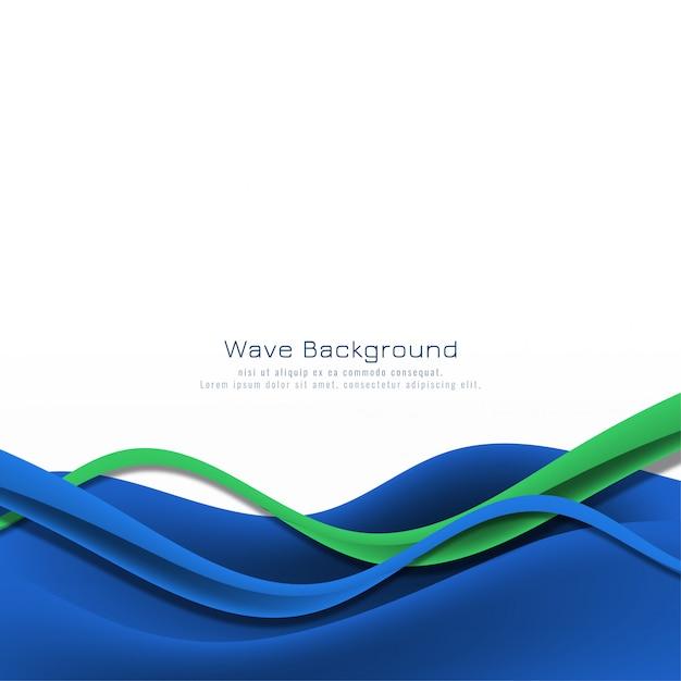 Абстрактный стильный синий волновой вектор фон Бесплатные векторы