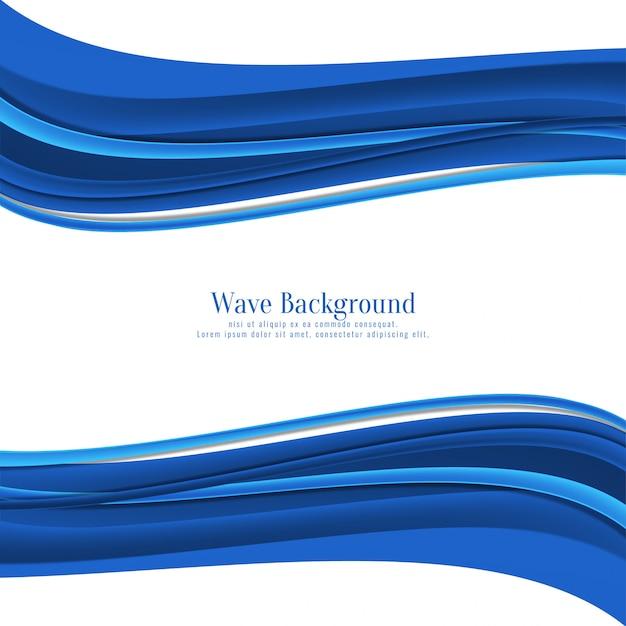 Стильный синий фон волны Бесплатные векторы