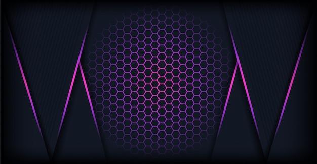 抽象的な幾何学的な未来的な背景 Premiumベクター
