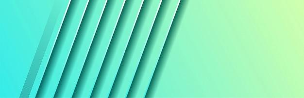幾何学的なスタイルの抽象的なブルーグリーンの背景 Premiumベクター