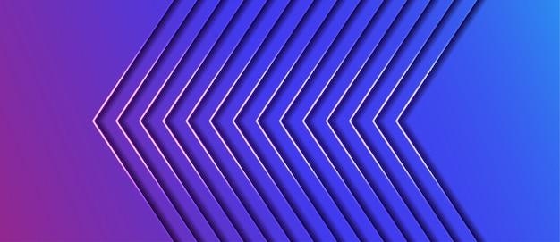 幾何学的なスタイルの抽象矢印の背景 Premiumベクター