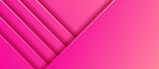 抽象的なピンクグラデーションストライプバックグラウンド Premiumベクター