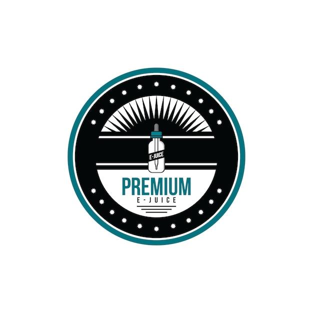 パーソナル気化器電子タバコ電子ジュース液体ラベルバッジセット Premiumベクター