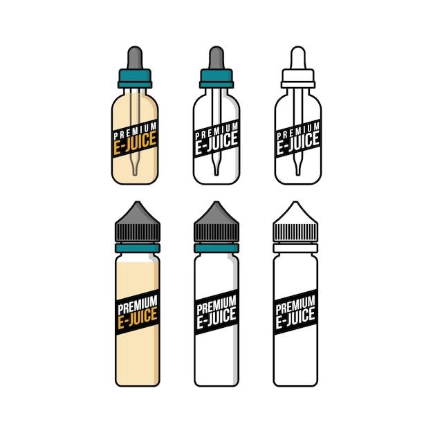 パーソナル気化器電子タバコ電子ジュース液体プラスチックボトル Premiumベクター