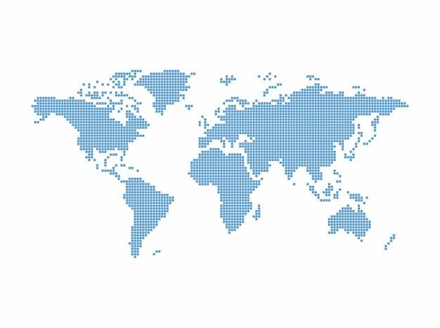 世界地図テーマベクトルグラフィックアートデザインイラスト Premiumベクター