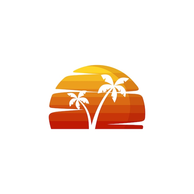 夏休みビーチバケーションベクトルアート Premiumベクター