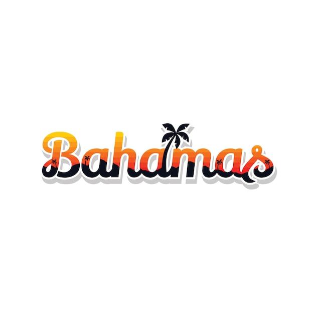 バハマ夏の休日ビーチサインシンボルベクトルアート Premiumベクター