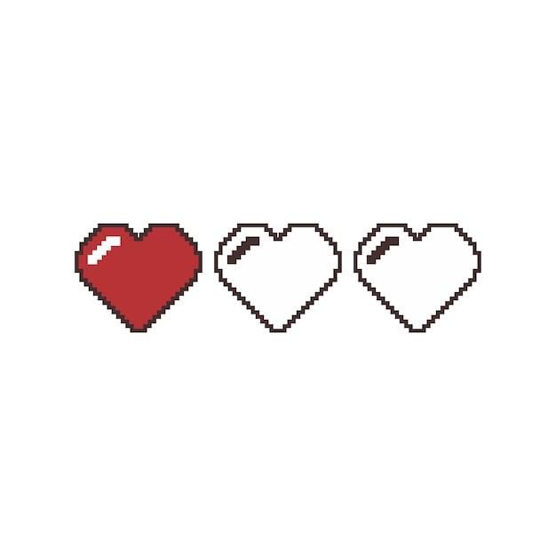 バレンタインデーピクセルアートのベクトル Premiumベクター