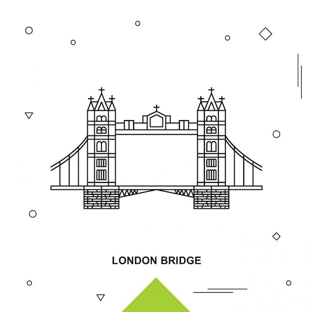 Лондонский мост Premium векторы