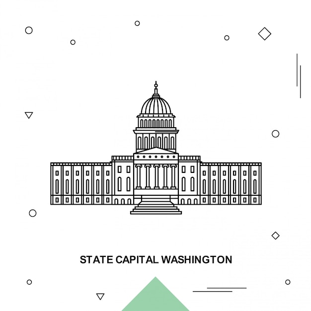 州都ワシントン Premiumベクター