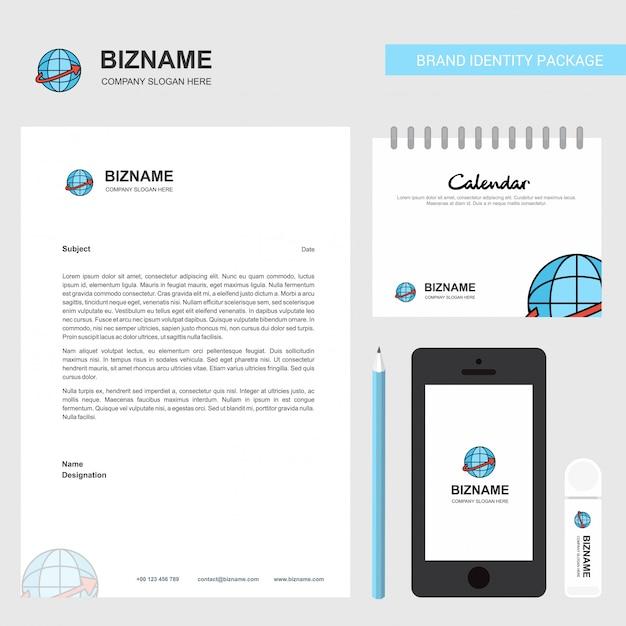 Глобус бизнес логотип стационарный Premium векторы