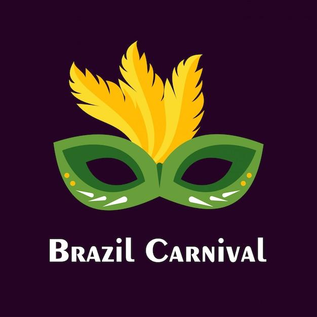 カーニバルお祝いマスクの背景 無料ベクター