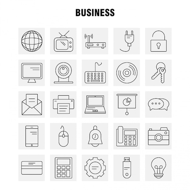 ビジネスラインのアイコン Premiumベクター