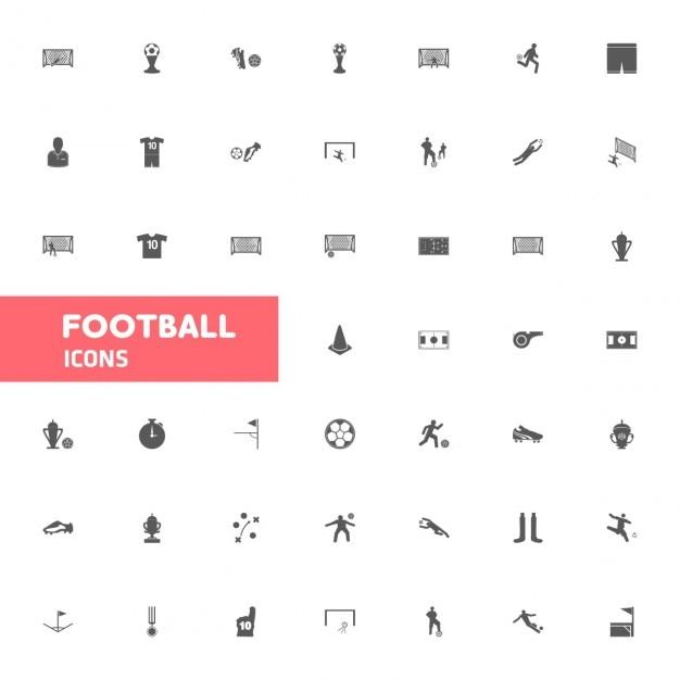 サッカーのアイコンセット 無料ベクター