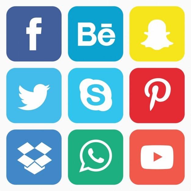 Социальный набор иконок Бесплатные векторы