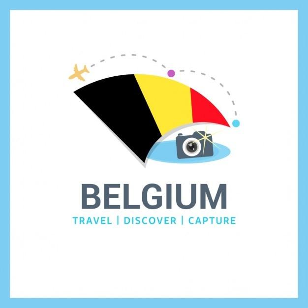 ベルギー旅行ロゴ 無料ベクター