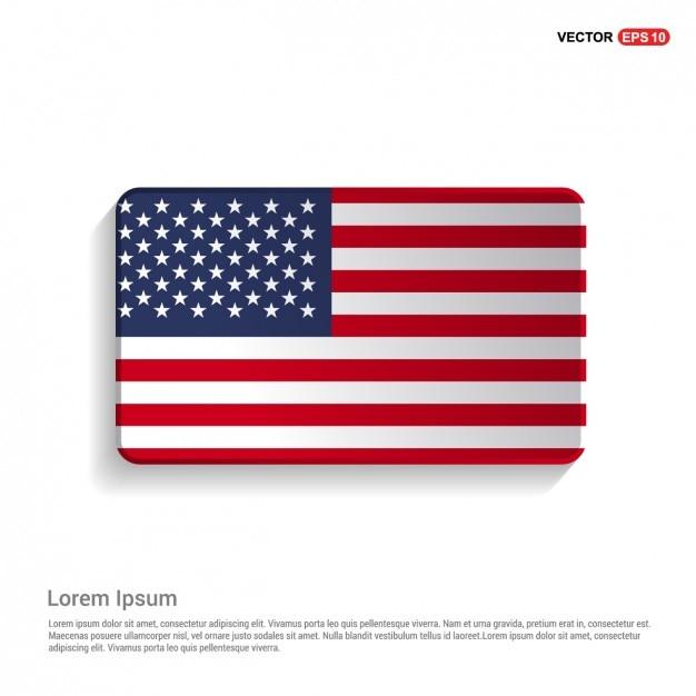 アメリカ国旗テンプレートの米国 無料ベクター