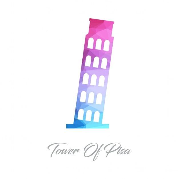 Пизанская башня полигон Бесплатные векторы