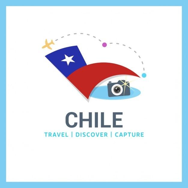 チリ旅行のロゴ 無料ベクター