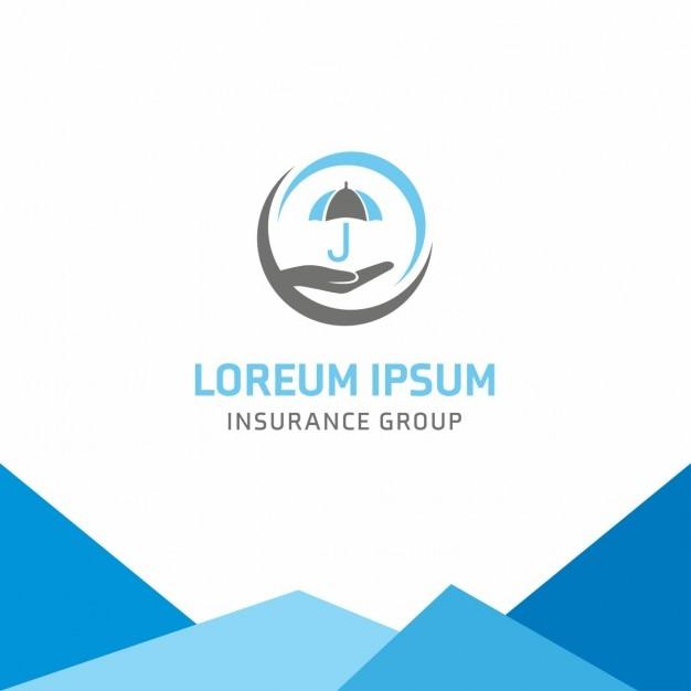 Зонтик страхование логотип Бесплатные векторы