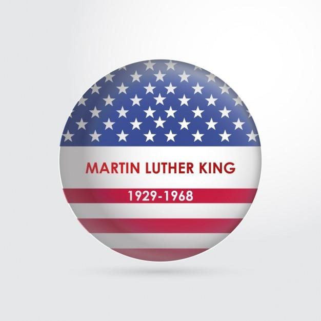 マーティン・ルーサー・キング・ジュニアのピンボタン。日 無料ベクター