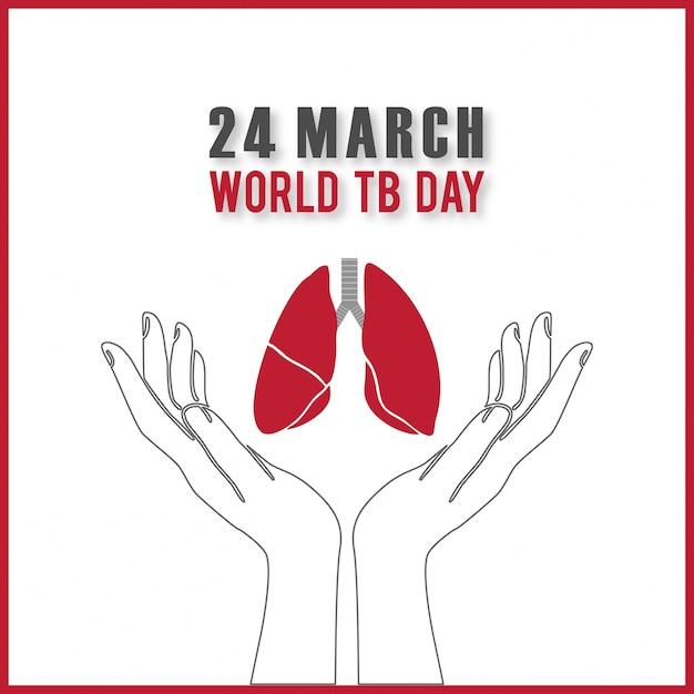 Векторная иллюстрация стильный текст для всемирного дня борьбы с туберкулезом Бесплатные векторы
