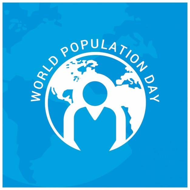 世界人口一日人々との地球円青い背景 無料ベクター