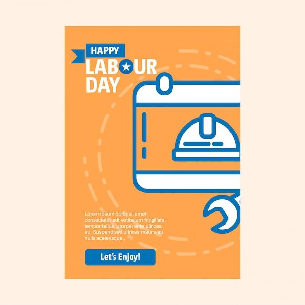Плакат рабочего дня Бесплатные векторы