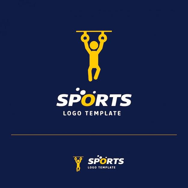 スポーツ重量挙げロゴ Premiumベクター