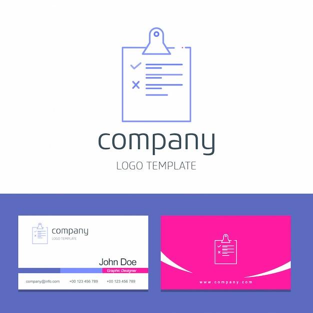 Логотип и карточка контрольного списка Бесплатные векторы