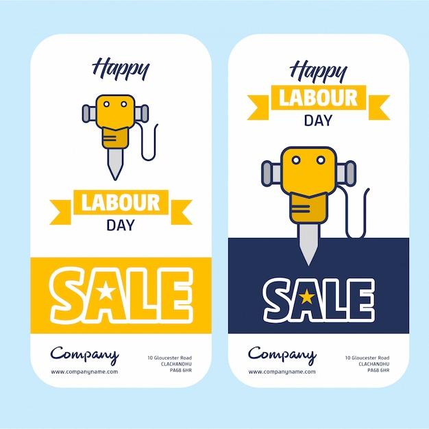 Счастливый рабочий день продажи баннер Бесплатные векторы