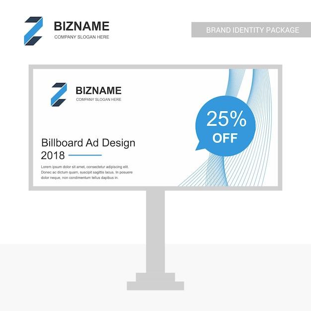 ビジネスビルボード設計ベクトル Premiumベクター