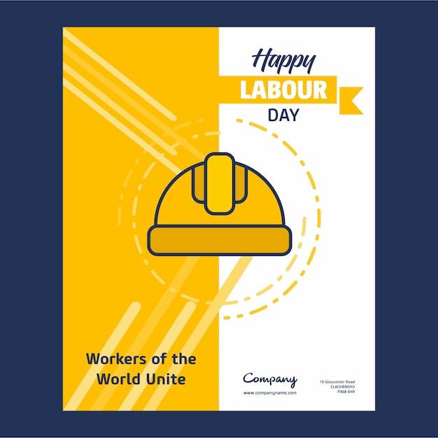 День труда Premium векторы