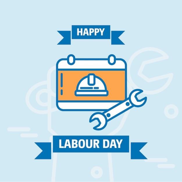 С днем рождения рабочего дня Premium векторы
